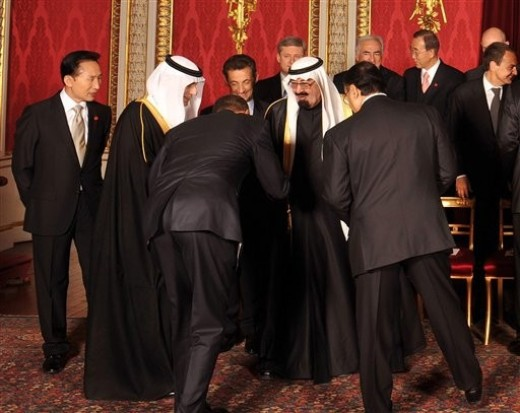 obama bowing to terrorist
